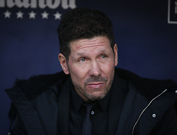 February 9, 2019 - Madrid, Spain - Head coach of Atletico Madrid Diego Simeone looks during the La Liga match between Club Atletico de Madrid and Real Madrid CF at Wanda Metropolitano on February 09, 2019 in Madrid, Spain. (Credit Image: © Raddad Jebarah/NurPhoto via ZUMA Press)