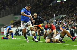 Scott Spedding from France during the Rugby International Test match between France and Samoa at the Stadium in Toulouse, France on November 12, 2016. Photo by Pascal Rondeau/ABACAPRESS.COM