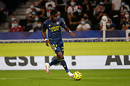 Maxwel CORNET of Lyon during the French championship Ligue 1 football match between Olympique Lyonnais and Nimes Olympique on September 18, 2020 at Groupama stadium in Decines-Charpieu near Lyon, France - Photo Romain Biard / Isports / ProSportsImages / DPPI