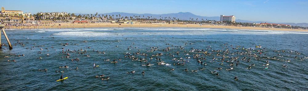 Sean Collins Memorial Paddle Out Huntington Beach California