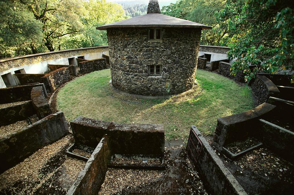 Jack London State Historical Park, in Glen Ellen, California (Sonoma County). Stone pig barn.