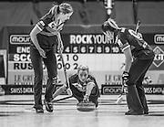 "Glasgow. SCOTLAND.   Vicki ADAMS, during  the ""Round Robin"" Game.  Scotland vs Russia,  Le Gruyère European Curling Championships. 2016 Venue, Braehead  Scotland<br /> Thursday  24/11/2016<br /> <br /> [Mandatory Credit; Peter Spurrier/Intersport-images]"