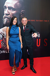 Conor McGregor with his partner Dee Devlin on arrival at the Conor McGregor: Notorious premiere at the Savoy Cinema in Dublin.