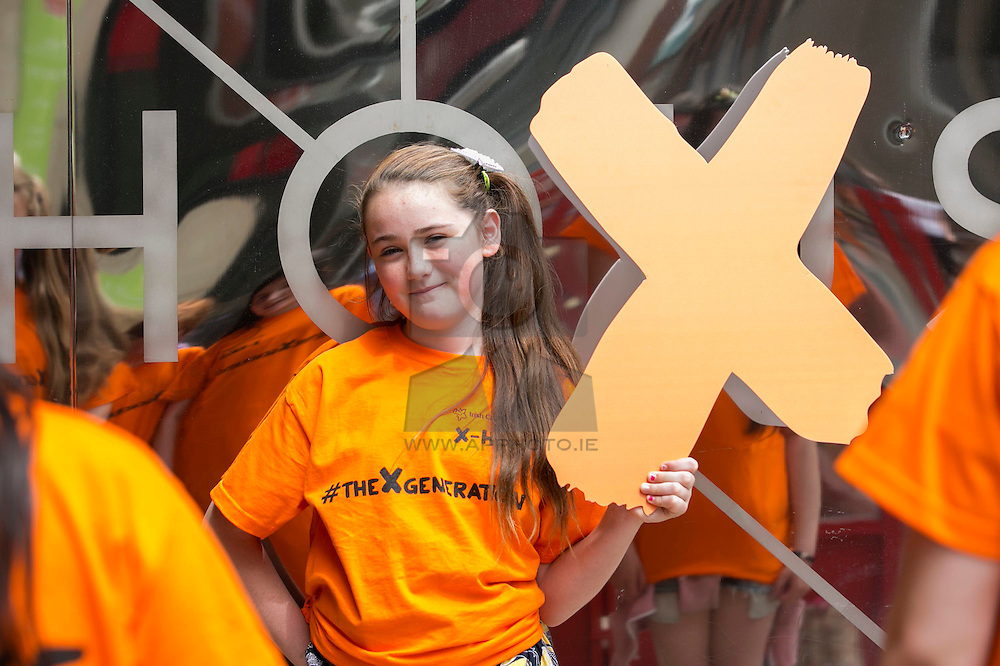 Repro Free: 02/07/2015 Jade Freeman (12) from TRYS (Tipperary Regional Youth Service) pictured attending the Irish Cancer Society's X-HALE Youth Awards 2015.  Almost 300 young people from 41 youth groups around the country attended the event to see films and community action projects, which they had created themselves, on the big screen in the Lighthouse Cinema, Smithfield.<br />  <br /> Calling themselves #theXgeneration to highlight that they can be Ireland's first smoke-free generation, the youth groups are using their projects to tackle smoking and empower others to follow their lead.<br /> Visit www.cancer.ie/xhale to find out more. Follow the conversation on social media using the hashtag #theXgeneration. Picture Andres Poveda<br />  <br /> ENDS<br /> For press information:<br /> Órla Sheils<br /> Communications<br /> T: 01 231 0559<br /> E: osheils@irishcancer.ie