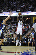 Joe Smith of Cleveland takes a jump shot against the Memphis Grizzlies.