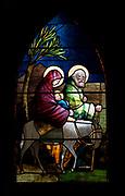 Window 4 on plan.<br /> Saint Saviour's Episcopal Church, Bar Harbor, Maine.