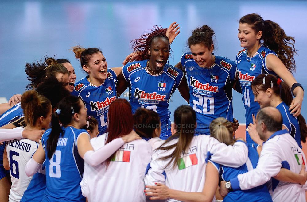 09-01-2016 TUR: European Olympic Qualification Tournament Turkije - Italie, Ankara<br /> De strijd om de tweede Japan ticket /