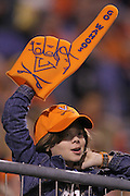 Oct 23, 2010; Charlottesville, VA, USA;  A Virginia Cavalier fan during the game against the Eastern Michigan Eagles at Scott Stadium.  Virginia won 48-21. Mandatory Credit: Andrew Shurtleff