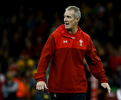 Attack Coach Rob Howely  of Wales<br /> <br /> Photographer Simon King/Replay Images<br /> <br /> Under Armour Series - Wales v Australia - Saturday 10th November 2018 - Principality Stadium - Cardiff<br /> <br /> World Copyright © Replay Images . All rights reserved. info@replayimages.co.uk - http://replayimages.co.uk