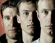 From front: Warren Shouldice, 22, Kyle Nissen, 26, and Jeff Bean, 29, of the Canadian Olympic Freestyle Arials Team are seen in Ottawa on Thursday, Jan 26, 2006..(Ottawa Sun Photo By Sean Kilpatrick) .