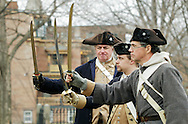 Newburgh, New York  - Revolutionary War reenactors train with swords at Washington's Headquarters State Historic Site  as part of George Washington's birthday celebration on Feb. 18, 2012.