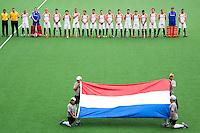 MELBOURNE - Oranje   voor  de hockeywedstrijd tussen de mannen van Nederland en Australie bij de Champions Trophy hockey in Melbourne.  ANP KOEN SUYK