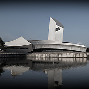 An early morning capture of the Imperial War museum, Manchester's museum of modern war and conflict, photographed by Stuart Freeman.