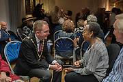 Lord Mayor of Westminster councillor Steve Summer, Soho Society Silver Sunday Tea Dance, St. Anne's Church Hall, Soho, London. 2 October 2016
