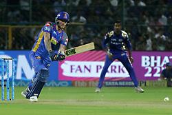 April 22, 2018 - Jaipur, Rajasthan, India - Rajasthan Royals batsman Ben Stokes plays a shot during the IPL T20 match against  Mumbai Indians  at Sawai Mansingh Stadium in Jaipur on 22 April,2018.(Photo By Vishal Bhatnagar/NurPhoto) (Credit Image: © Vishal Bhatnagar/NurPhoto via ZUMA Press)