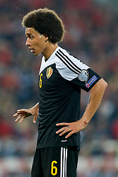 Axel Witsel of Belgium (Zenit Saint Petersburg) looks on - Photo mandatory by-line: Rogan Thomson/JMP - 07966 386802 - 12/06/2015 - SPORT - FOOTBALL - Cardiff, Wales - Cardiff City Stadium - Wales v Belgium - EURO 2016 Qualifier.