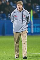 USA's coach, Mike Tolkin, during their rugby test match between Romania and USA, on National Stadium Arc de Triomphe in Bucharest, November 8, 2014. Romania lose the match against USA, final score 17-27.