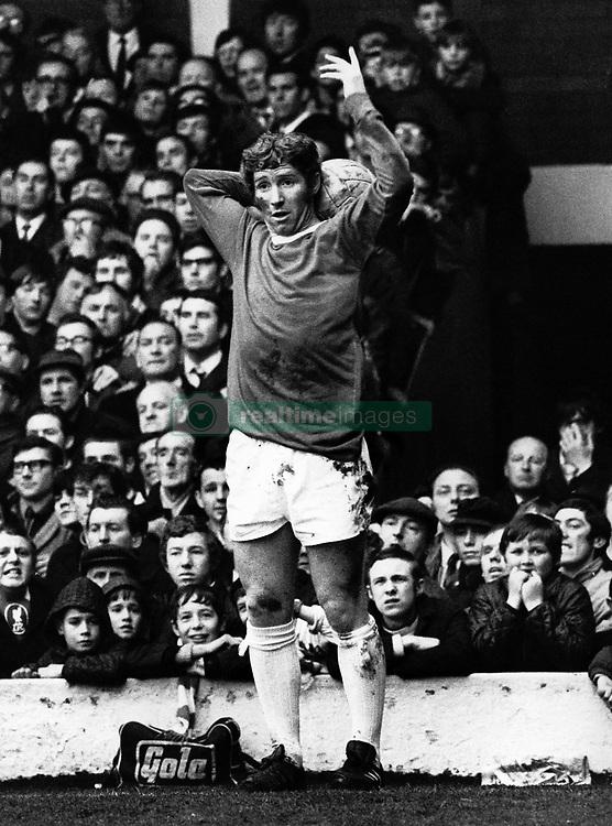 Everton's Alan Ball takes a throw in