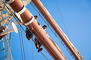 Sailing the Caribbean on the S.Y. Sea Cloud, a 4 masted luxury yacht