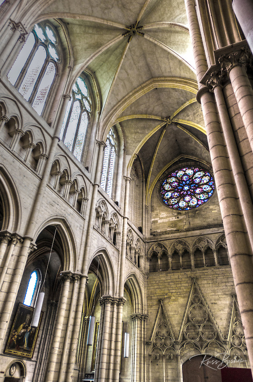 Interior of Saint Jean Cathedral, old town Vieux Lyon, France (UNESCO World Heritage Site)