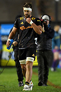 Lachlan Boshier of the Chiefs leaves the field after being shown a yellow card during the Round 5 Trans-Tasman Super Rugby match between NSW Waratahs and Waikato Chiefs at Brookvale Oval in Sydney, Saturday, June 12, 2021. (AAP Image/Dan Himbrechts) NO ARCHIVING, EDITORIAL USE ONLY