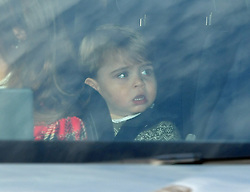 File photo dated 18/12/19 of Prince Louis arriving for the Queen's Christmas lunch at Buckingham Palace, London. Prince Louis of Cambridge, who is celebrating his second birthday on Thursday, was born on patriotic St George???s Day in 2018.