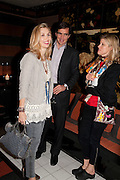 ALLEGRA HICKS; LEOPOLDO ZAMBELETTI; ; JESSICA ZAMBELETTI;, Book party for Janine di Giovanni's Ghosts by Daylight. Blake's Hotel. South Kensington. London. 12 July 2011. <br /> <br />  , -DO NOT ARCHIVE-© Copyright Photograph by Dafydd Jones. 248 Clapham Rd. London SW9 0PZ. Tel 0207 820 0771. www.dafjones.com.