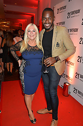 VANESSA FELTZ and BEN OFOEDU at a party to celebrate the 21st anniversary of The Roar Group hosted by Jonathan Shalit held at Avenue, 9 St.James's Street, London on 21st September 2015.