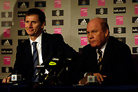 Photo: Jed Wee.<br />Newcastle United Press Conference. 16/05/2006.<br />Newcastle chairman Freddie Shepherd (R) unveils Glenn Roeder as their full time manager.