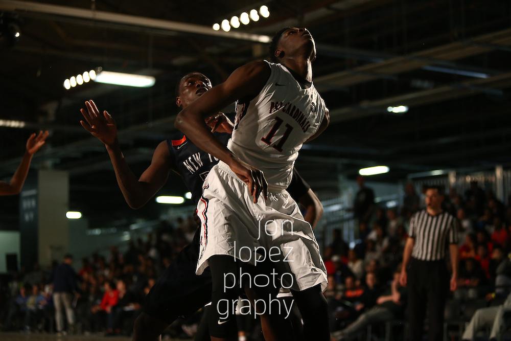 BROOKLYN, NY - APRIL 17: Nike EYBL. Session 1. Mohamed Bamba #11 of the PSA Cardinals (Photo by Jon Lopez)