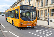 Volvo B7RLE Wright Eclipse 2 Discover First bus service to Warminster, Great Pulteney Street,  Bath, Somerset, England, UK