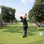 Phil Mickelson in action during the ProAm at The Barclays Golf Tournament at The Ridgewood Country Club, Paramus, New Jersey, USA. USA. 20th August 2014. Photo Tim Clayton