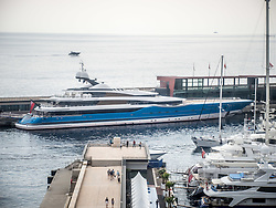 September 24, 2016 - Monaco, Monaco - Russian billionaire Andrei Skoch's Superyacht 'Madame Gu'' (99m) pictured in Port Hercules for the 26th Monaco Yacht Show with some 125 of the most desirable superyachts from around the world on display between 28 September and 1 October. The Monaco Yacht Show is held in Port Hercules, and is Europe's biggest in-water display of superyachts. (Credit Image: © Hugh Peterswald/Pacific Press via ZUMA Wire)