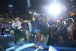 MELBOURNE, Jan. 26, 2019  Naomi Osaka (C) of Japan leaves the court after the women's singles final match between Naomi Osaka of Japan and Petra Kvitova of the Czech Republic at 2019 Australian Open in Melbourne, Australia, Jan. 26, 2019. (Credit Image: © Lui Siu Wai/Xinhua via ZUMA Wire)