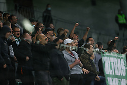 Green Dragons, Supporters of Olimpija during football match between NK Olimpija and NK CB24 Tabor Sezana in 35th Round of Prva liga Telekom Slovenije 2020/21, on May 19, 2021 in SRC Stozice, Ljubljana, Slovenia. Photo by Vid Ponikvar / Sportida