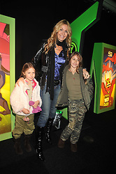 MELISSA ODABASH and her children AVALON and ALAIA at the premier of Ben Ten Alien Force at the Old Billingsgate Market, City of London on 15th February 2009.