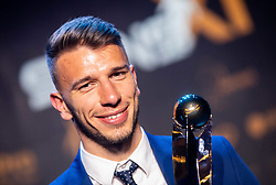 Jan Mlakar of Maribor posing as Best young player of the year during SPINS XI Nogometna Gala 2019 event when presented best football players of Prva liga Telekom Slovenije in season 2018/19, on May 19, 2019 in Slovene National Theatre Opera and Ballet Ljubljana, Slovenia. Photo by Vid Ponikvar / Sportida