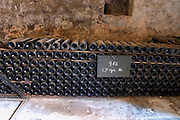 Piles of old bottles aging in the cellar, rouge red 1986 Chateau Vannieres (Vannières) La Cadiere (Cadière) d'Azur Bandol Var Cote d'Azur France