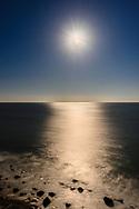 Moon, View from Camp Hero, Atlantic Coasr,  Montauk, NY