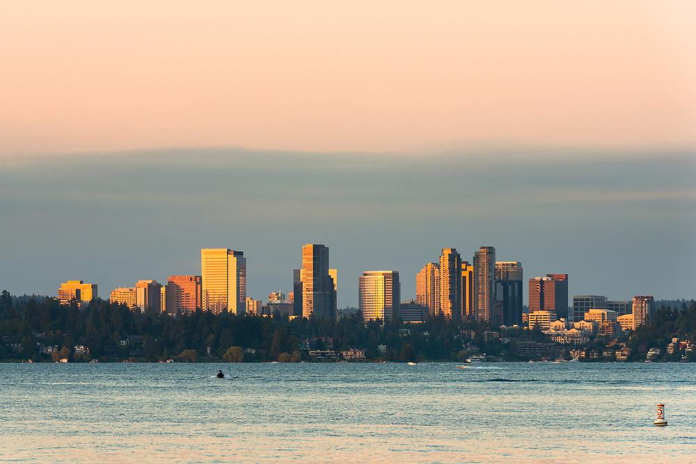 Skyline of downtown Bellevue, Seattle Metropolitan area, Washington State, USA