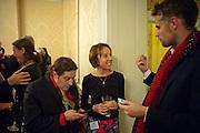 BERNIE KATZ;  JENNIE BLOUET; RICHARD BACON Streetsmart Reception at 11 Downing St. London. 1 November 2011. <br /> <br />  , -DO NOT ARCHIVE-© Copyright Photograph by Dafydd Jones. 248 Clapham Rd. London SW9 0PZ. Tel 0207 820 0771. www.dafjones.com.