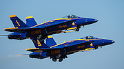 Blue Angels take off at the Oregon International Airshow.