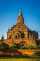 View of the Sulamani Temple in Bagan, Myanmar (Burma) it is located close to the  village of Minnanthu. This is one of the most visited temples in Bagan. It was built in 1183.