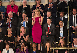 Ivanka Trump applauds during U.S. President Donald J. Trump address to a joint session of Congress on Capitol Hill in Washington, DC, USA, February 28, 2017. Photo by Chris Kleponis/CNP/ABACAPRESS.COM