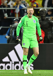 Jordan Pickford in action during the 1/8 Final Game between Colombia and England at the 2018 FIFA World Cup in Moscow, Russia on July 3, 2018. Photo by Lionel Hahn/ABACAPRESS.COM