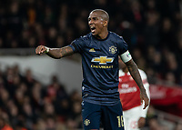 Football - 2018 / 2019 FA Cup - Fourth Round: Arsenal vs. Manchester United <br /> <br /> Ashley Young (Manchester United) demands more from his team as Arsenal claim a goal at The Emirates Stadium.<br /> <br /> COLORSPORT/DANIEL BEARHAM