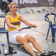 Lisa Scheenaard FEMALE HEAVYWEIGHT Novice U19 2K Race #3  09:00am<br /> <br /> <br /> www.rowingcelebration.com Competing on Concept 2 ergometers at the 2018 NZ Indoor Rowing Championships. Avanti Drome, Cambridge,  Saturday 24 November 2018 © Copyright photo Steve McArthur / @RowingCelebration
