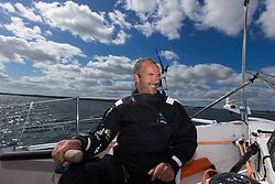 Damian Foxall (IRL) on Oman Sail's MOD70 Musandam during Kiel week 2014, 22-06-2014, Kiel - Germany.