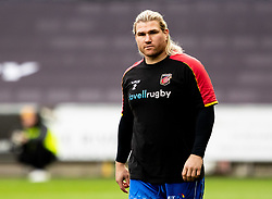 Richard Hibbard of Dragons during the pre match warm up<br /> <br /> Photographer Simon King/Replay Images<br /> <br /> Guinness PRO14 Round 18 - Ospreys v Dragons - Saturday 23rd March 2019 - Liberty Stadium - Swansea<br /> <br /> World Copyright © Replay Images . All rights reserved. info@replayimages.co.uk - http://replayimages.co.uk
