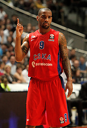 20.03.2014, Palacio de los Deportes, Madrid, ESP, Basketball EL, Real Madrid vs CSKA Moskau, Gruppe F, im Bild CSKA Moscow's Aaron Jackson // CSKA Moscow's Aaron Jackson during the group F Basketball Euroleague between Real Madrid and CSKA Moscow at the Palacio de los Deportes in Madrid, Spain on 2014/03/20. EXPA Pictures © 2014, PhotoCredit: EXPA/ Alterphotos/ Acero<br /> <br /> *****ATTENTION - OUT of ESP, SUI*****